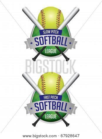 Softball League Emblems