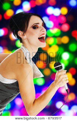 Singer At A Night Club