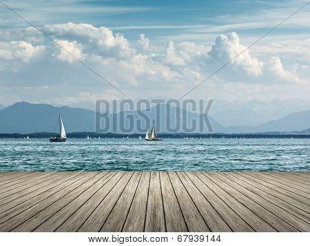 An image of sailing at Starnberg lake