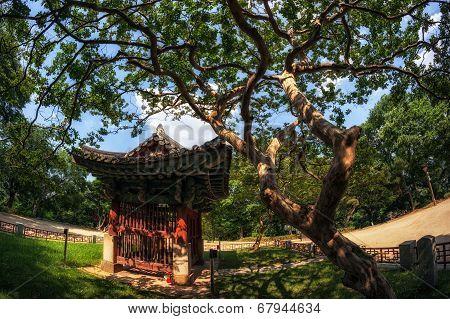 A small korean traditional shrine