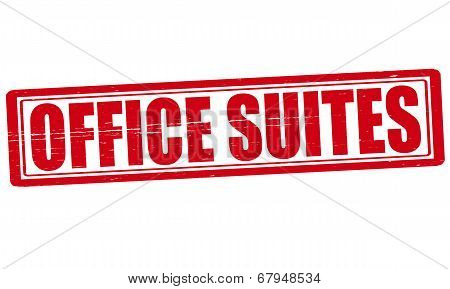 Stamp with text office suites inside vector illustration