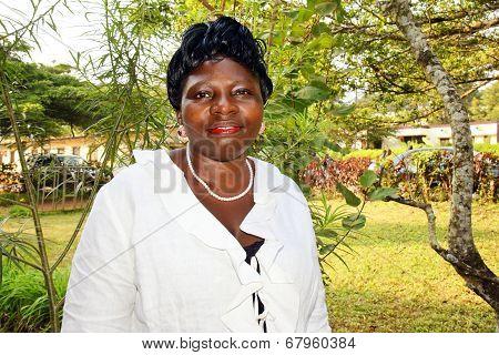 African American Woman in the Garden