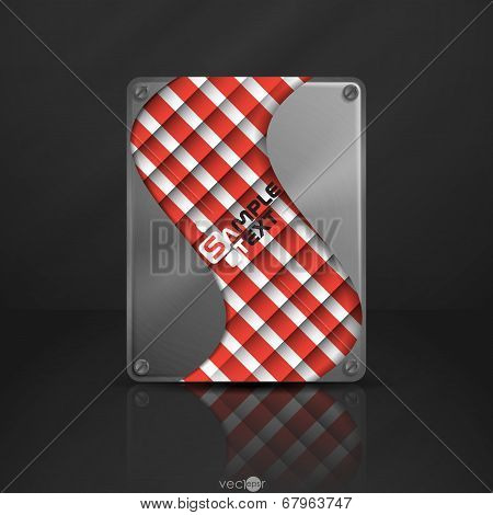 Metal Texture Plate With Screws. Vector Illustration. Eps 10 poster