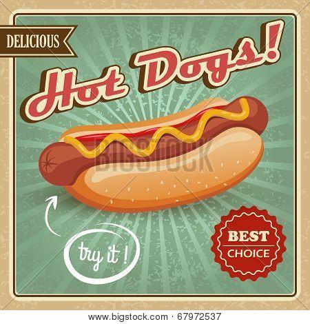 Hot dog poster