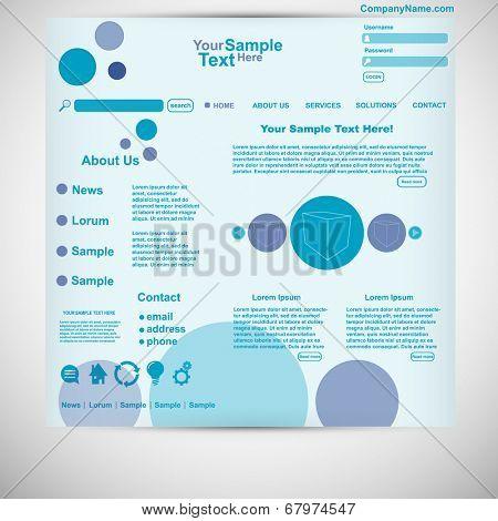 Website template circle website purple blue