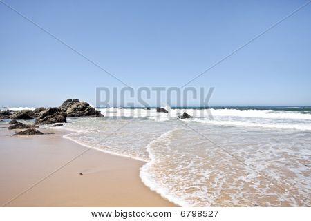 Natural rocks at the southcoast in de Algarve Portugal