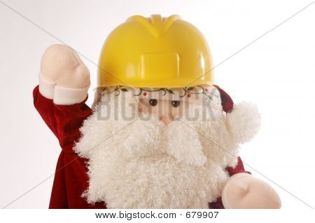 Santa With A Hardhat