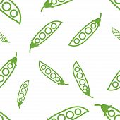 seamless texture of colored contours of peas on a white background poster