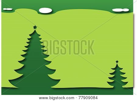 Christmas trees - green theme