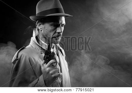 Film Noir: Detective In The Dark With A Gun