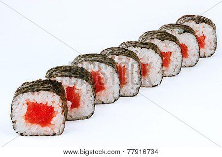 Sushi Rolls With Tuna Fish