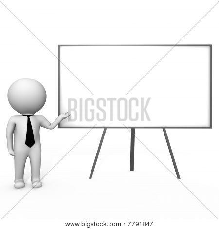 Human doing a presentation - a 3d image