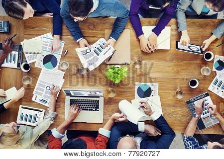 Marketing Analysis Accounting Team Teamwork Business Meeting Concept
