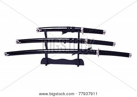 Samurai Swords Isolated