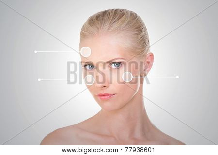 Nordic Girl With Three Indicators On Her Face