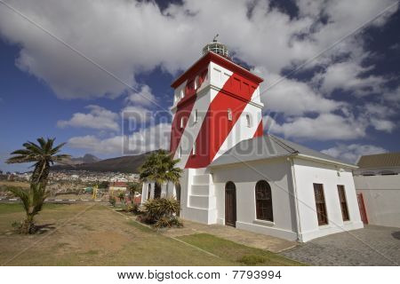 Lighthouse Red And White In Greenpoint, Cape Town