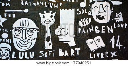Street art Montreal Bart Simpson