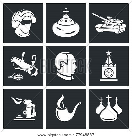 Russia Vector Icons Set