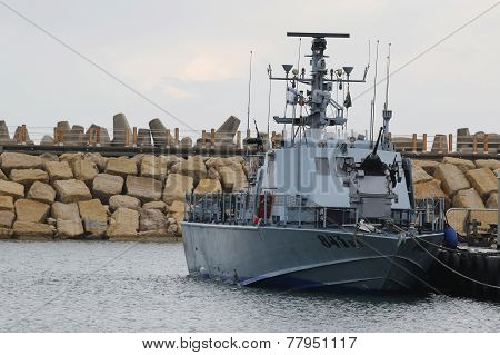Israel Navy Patrol Boat Super Dvora Mk III in Herzliya Marina