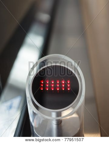 No Enter sign at Automatic Escalator