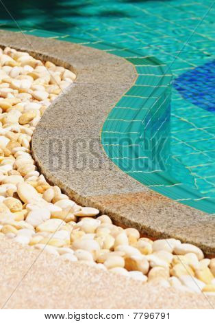 Curved Side Of A Swimming Pool