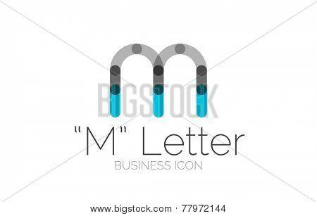 Minimal font or letter logo design isolated on white