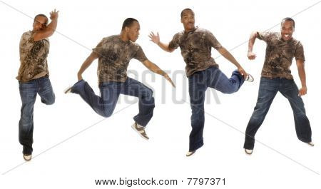 Young African American Man Dancing