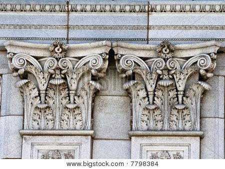 Two Marble Pillars