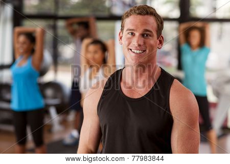 Young Man In A Gym
