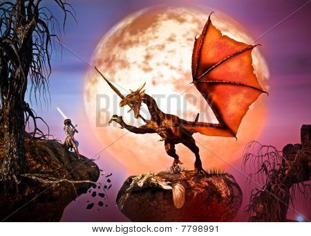 Battle the dragon before a full moon