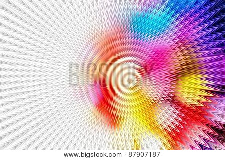 Abstract zooming in type background.