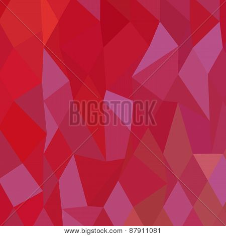Low polygon style illustration of imperial purple cadmium red abstract geometric background. poster