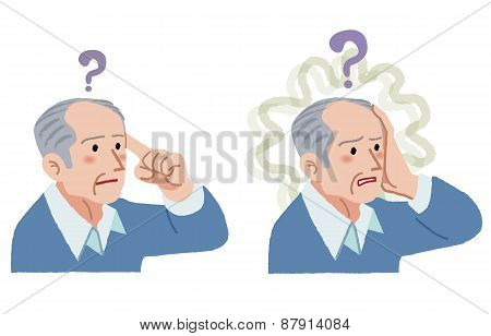 Senior Man With Gesture Of Having Forgotten Something