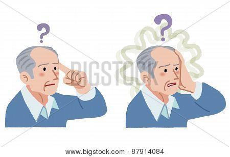 Senior Man With Gesture Of Having Forgotten Something
