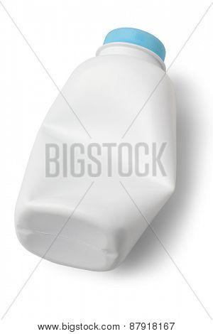 Empty Talcum Powder Container on White Background
