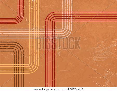 Retro background pattern - abstract lines