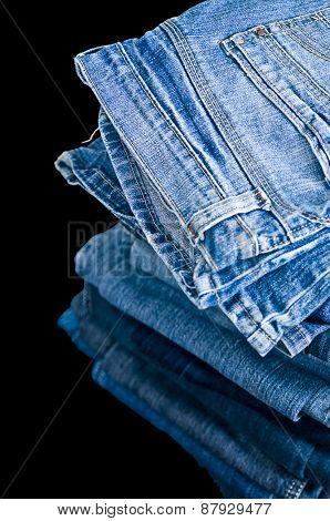 Piled Denim jeans