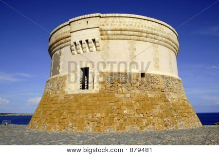 The Tower Overlooking The Entrance To Fornells Bay