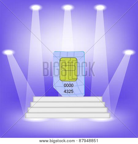 Blue SIM Card