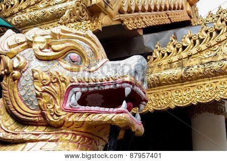 Detail from Dhamikarama Burmese Temple in Penang Malaysia poster