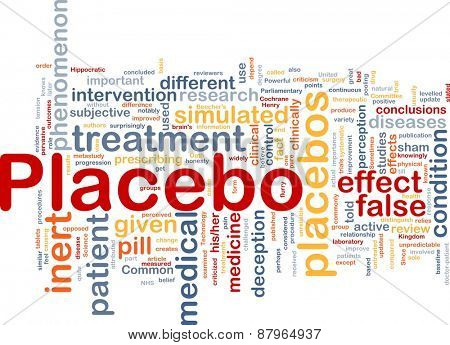 Background concept wordcloud of placebo treatment