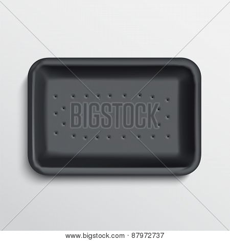 empty wrapped food tray