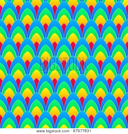 Background With Rainbow Ellipses With White Contours