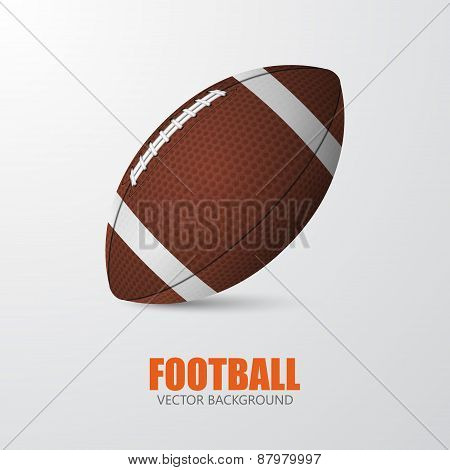 American Football. Vector Background