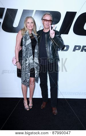 LOS ANGELES - FEB 1:  Parky Fonda, Peter Fonda at the