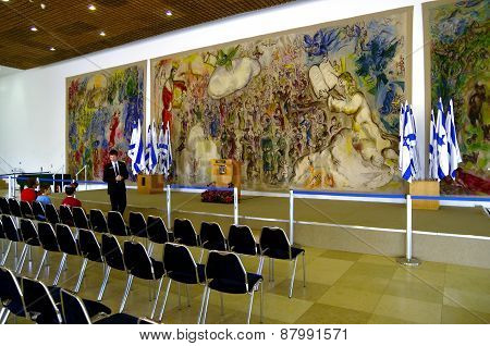 Gobelins By Marc Chagall In The Foyer Of The Knesset