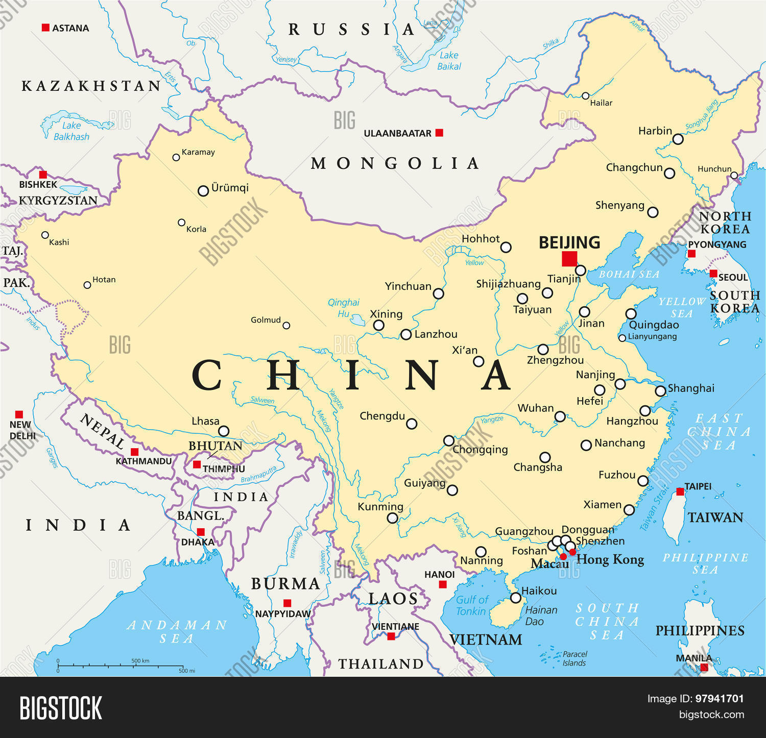 China political map vector photo free trial bigstock china political map gumiabroncs Images