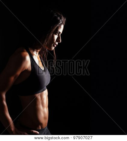 Confident Fitness Woman In Sports Clothing