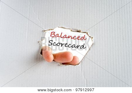 Balanced Scorecard Text Concept
