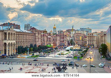 Maidan Nezalezhnosti Square, Kyiv, Ukraine